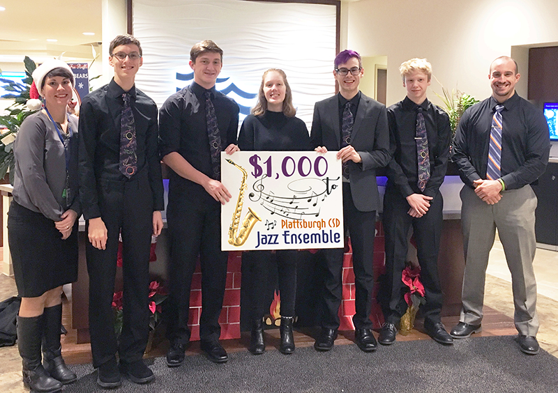 SeaComm Supports Plattsburgh City School Jazz Ensemble