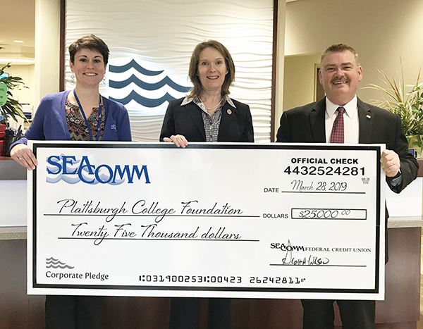 SeaComm Donates to Plattsburgh College Foundation