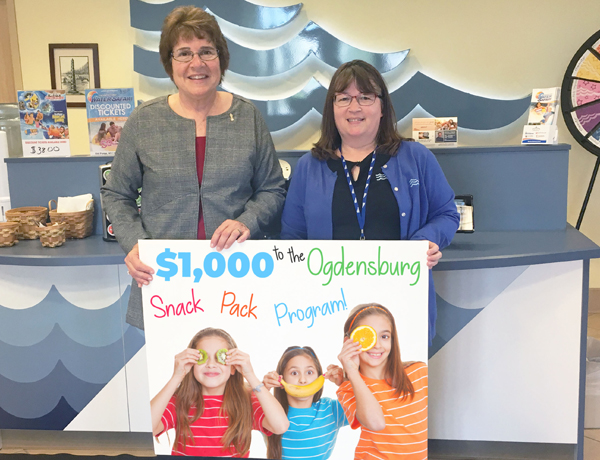 SeaComm Supports the Ogdensburg Snackpack Program