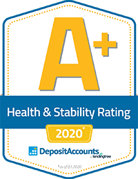 DepositAccounts.com A+ Health & Stability Rating